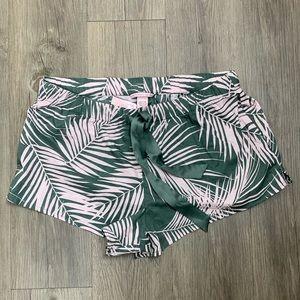 Victoria's Secret palm beach print shorts